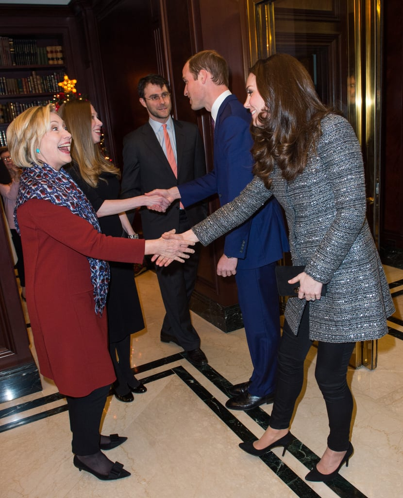 Hillary Clinton was thrilled to meet Will and Kate during their December 2014 visit to NYC.