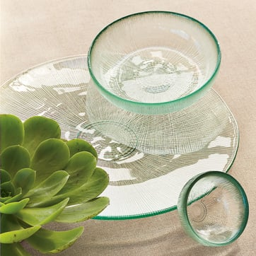 Recycled Glass Servingware