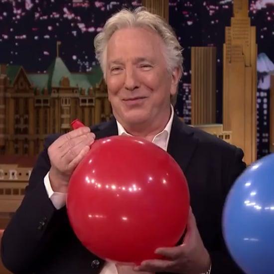 Alan Rickman Has Helium on The Tonight Show   Video