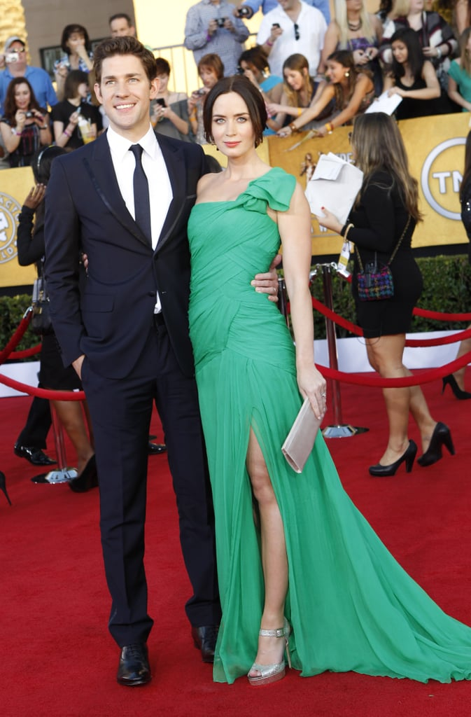 John Krasinski and Emily Blunt looked flawless on the red carpet together in LA in 2012.