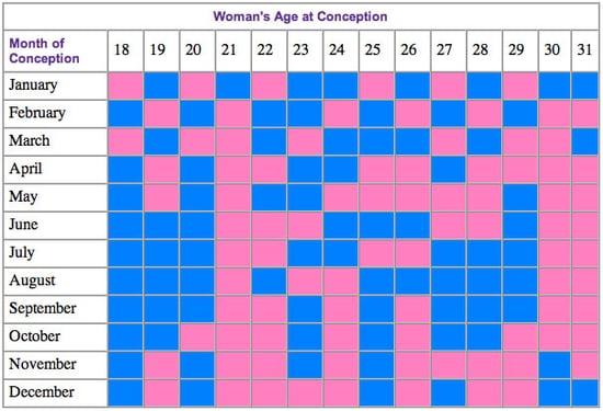 Baby Bump: Chinese Lunar Calendar