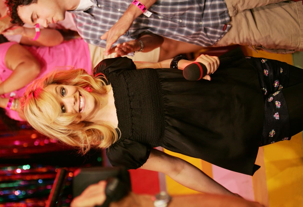 Rachel visited the set of TRL in August 2005.