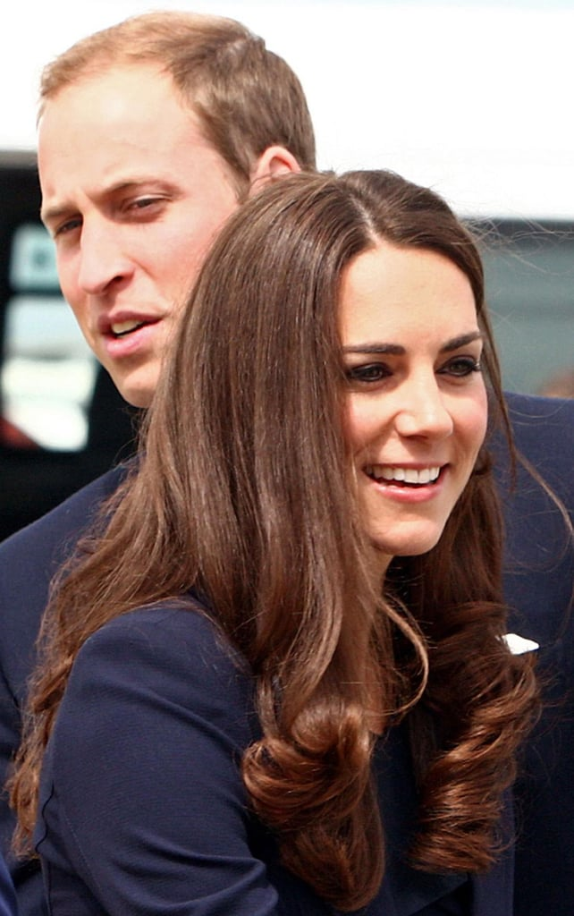Prince William and Kate Middleton took off from London.