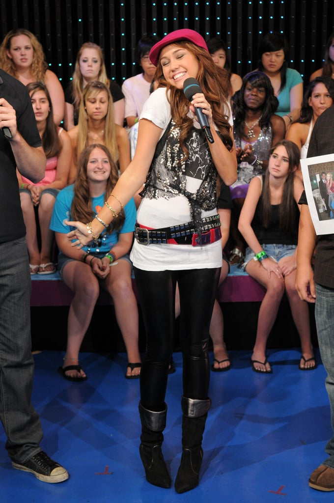 Miley was a guest on MTV TRL in Jul. 2008.