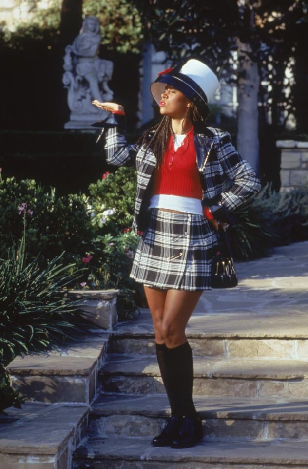 Dionne's safety-pin skirt is so '90s. And the splash of red between her plaid separates makes for a classic color scheme. Remember when we layered cropped sweaters over our camisoles every day? Source: Paramount Pictures