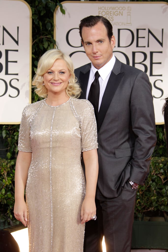 Amy Poehler and Will Arnett at the 2012 Golden Globes.