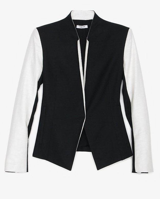 As the unofficial workhorse of many a wardrobe, a good blazer is worth its weight in gold. Update your collection with Helmut Lang's strong colorblocked style ($648).