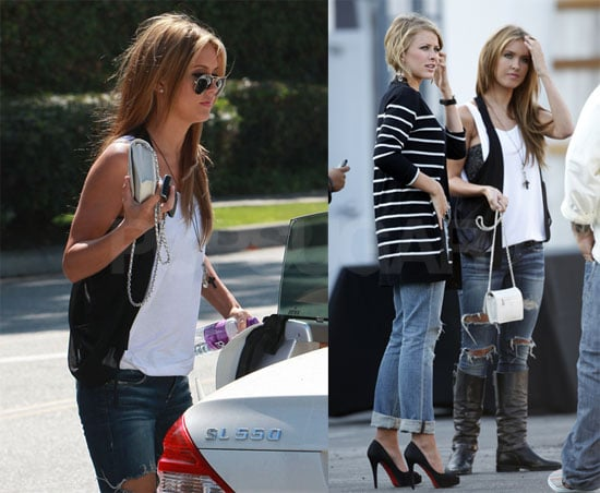 Photos of Audrina Patridge and Lo Bosworth Filming The Hills