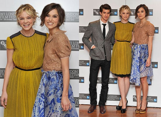 Keira Knightley, Carey Mulligan and Andrew Garfield at Never Let Me Go London Film Festival Press Conference