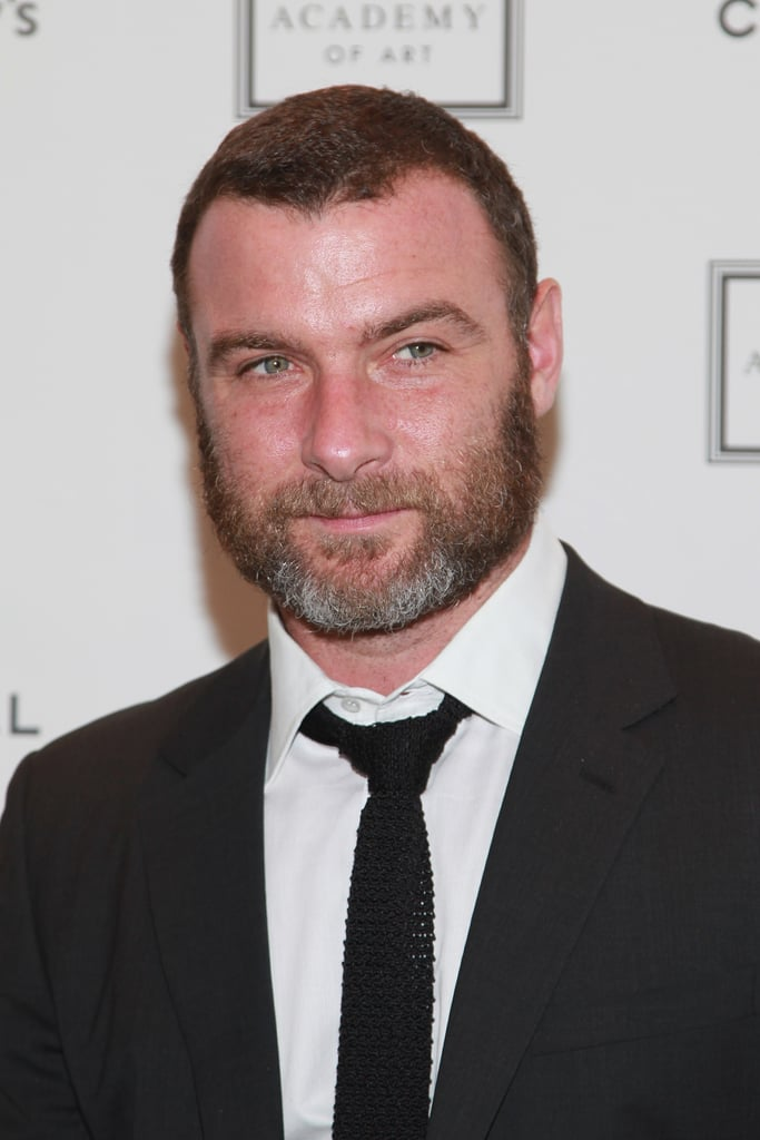 Liev Schreiber smiled at the Take Home a Nude art auction in NYC.