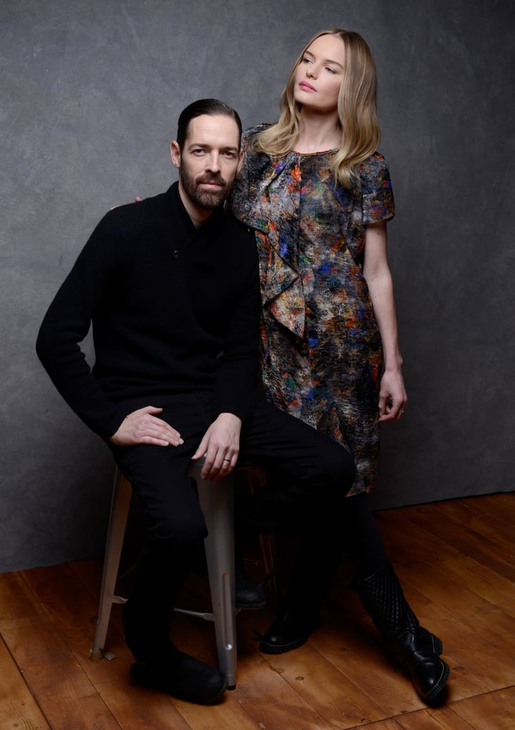 Michael Polish and Kate Bosworth took portrait photos at the Sundance Film Festival in Park City.