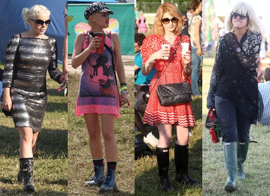 Photos of Nicola Roberts, Lily Allen at Glastonbury