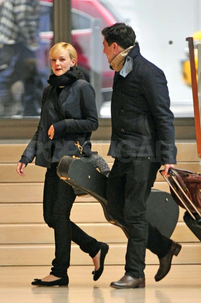 Carey Mulligan with her fiancé Marcus Mumford.