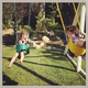 Harper Smith and her friend Simone Masterson couldn't bear to let go of their friend during a swinging session. Source: Instagram user tathiessen