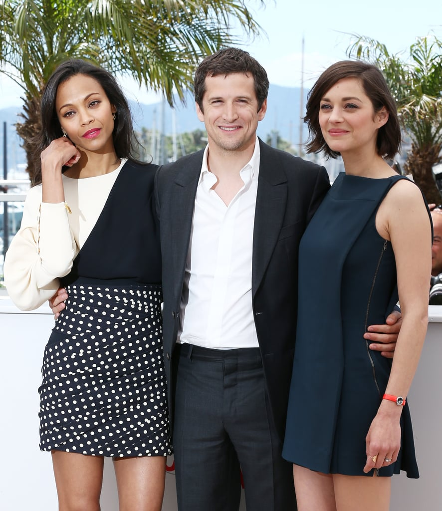 Zoe Saldana, Guillaume Canet and Marion Cotillard attended the photo call for Blood Ties.