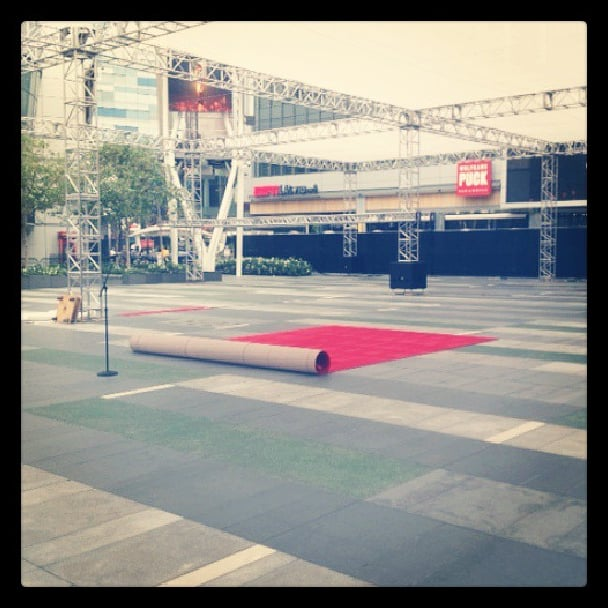 The red carpet was rolled out and ready to go long before the first gown was revealed!  Source: Instagram user primetimeemmys