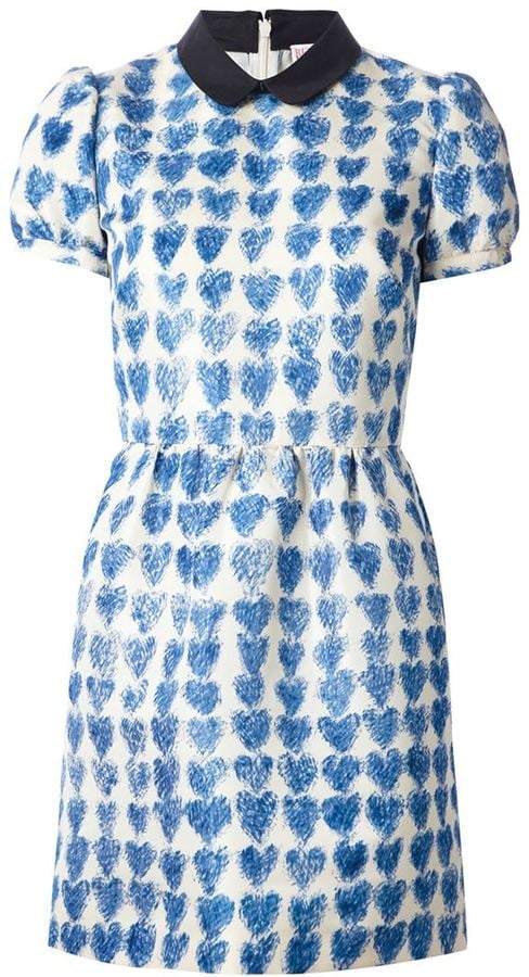 Valentino Heart Print Dress