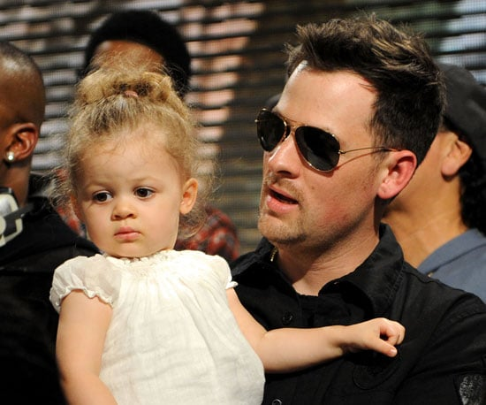 """Slide Photo of Joel and Harlow Madden at """"We Are the World"""" Recording"""