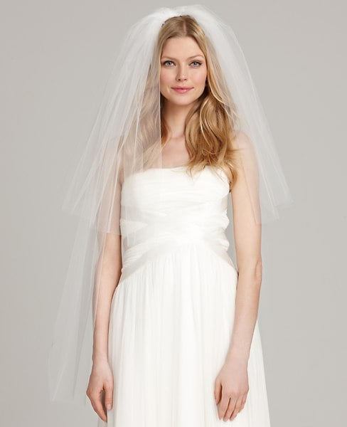 Ann Taylor's two-tier veil ($200) features a diaphanous two-layer tulle detailing, fitting for a variety of wedding dress silhouettes.