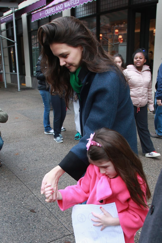 Katie Holmes and Suri Cruise stepped out hand in hand.