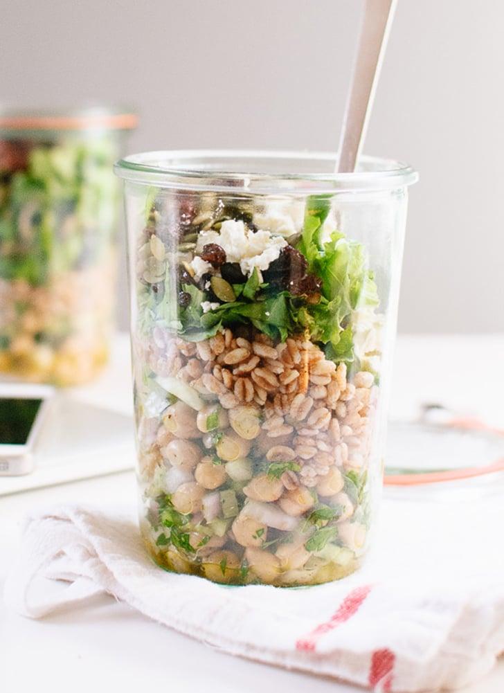 Chickpea, Farro, and Greens Salad