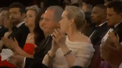 Jennifer Lawrence munched on pizza while Meryl Streep clapped.