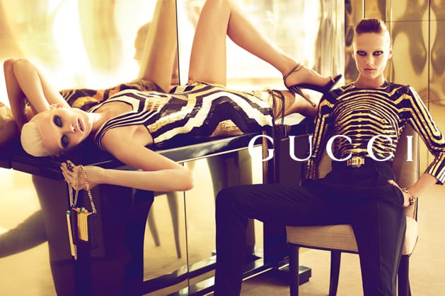 Lots of zebra-inspired stripes for Gucci Spring '12. Source: Fashion Gone Rogue