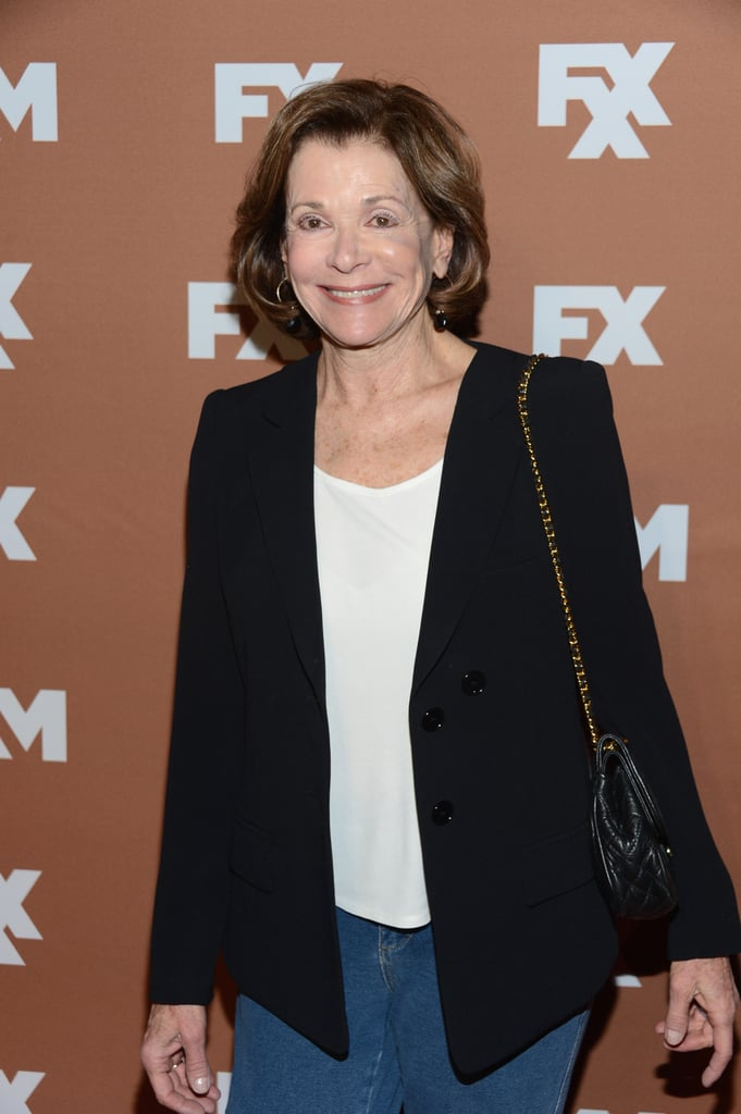 Jessica Walter smiled on the red carpet.