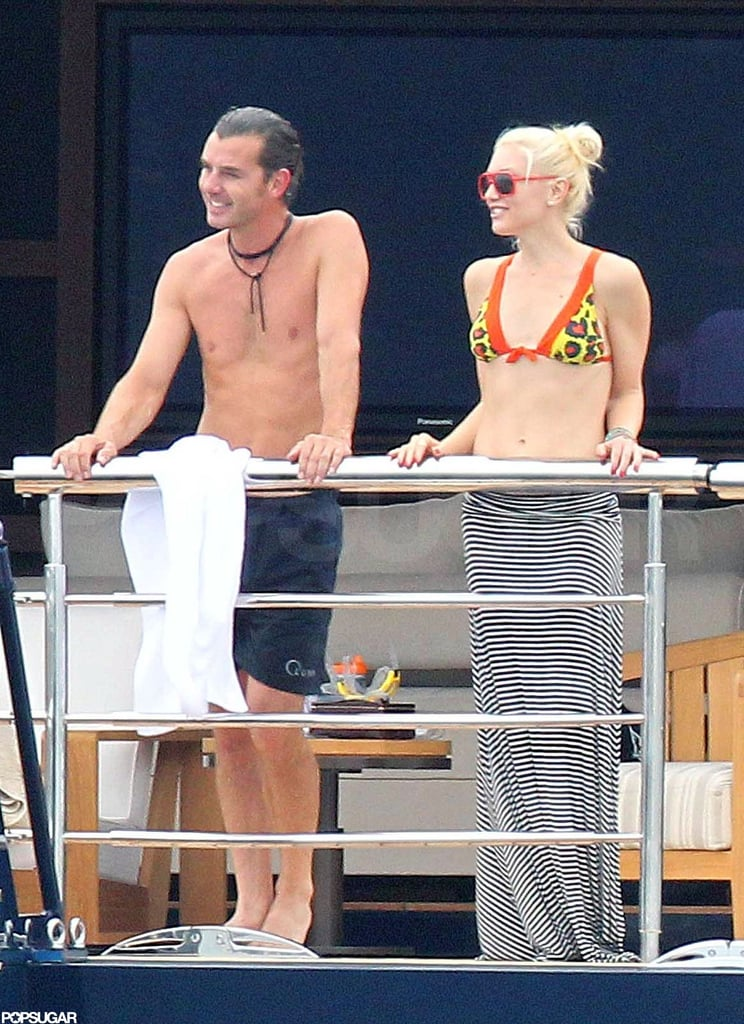 Shirtless Gavin and bikini-clad Gwen were on a yacht near Cannes in May 2011.