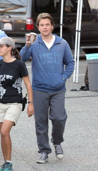 Pictures of Matt Damon Filming We Bought a Zoo in Los Feliz