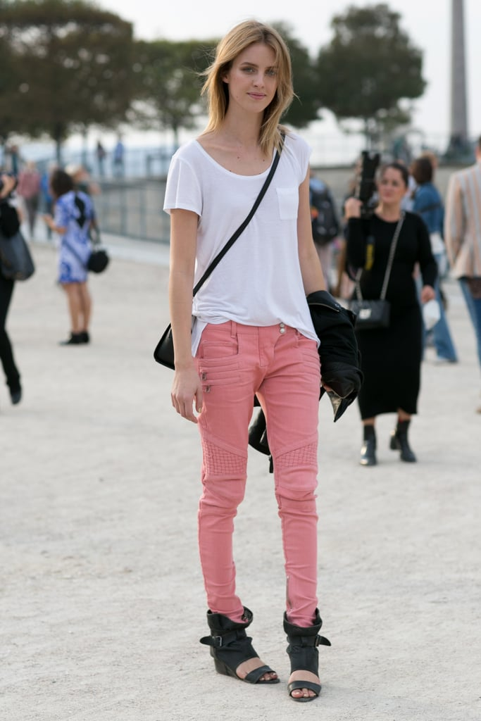 Pretty edgy in pink.