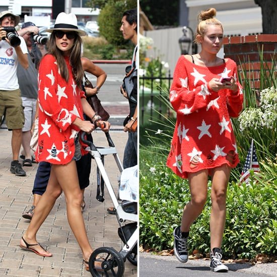 Miley Cyrus's Star-Print Sweater