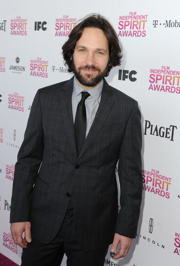 Paul Rudd on the red carpet at the Spirit Awards 2013.