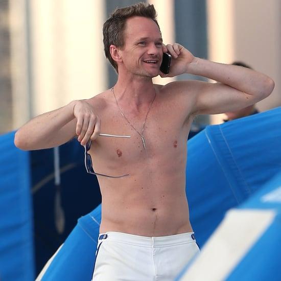 Neil Patrick Harris Shirtless on the Beach in Miami 2016