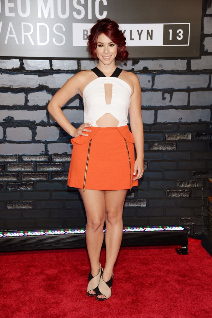Jillian Rose Reed struck a pose on the VMAs red carpet.