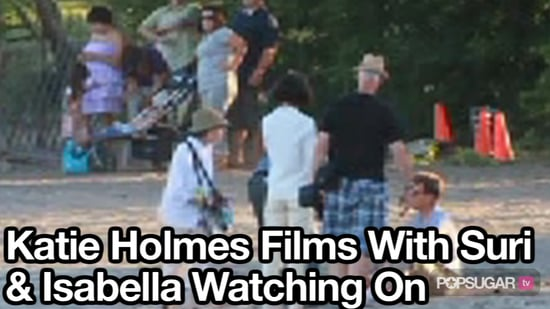 Video of Suri Cruise With Katie Holmes Filming The Kennedys