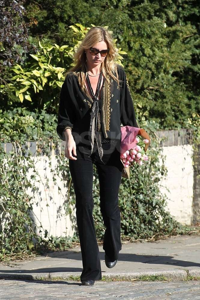 Kate Moss out and about near her home in London.