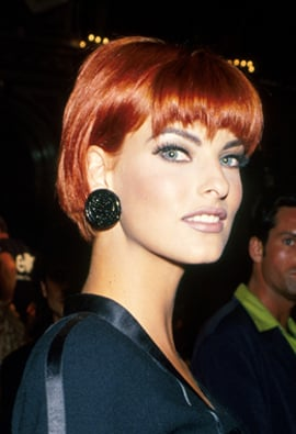 Autumn Fall Winter Beauty Fashion Trends 90's Nineties Revival: Agyness Deyn, Victoria Beckham Bob, Crimped Hair, Luella Goth