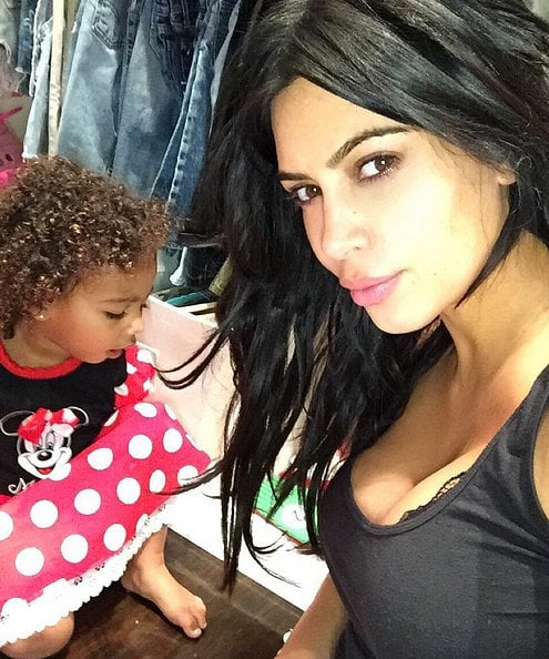 North dressed up in a Minnie Mouse outfit in 2015.
