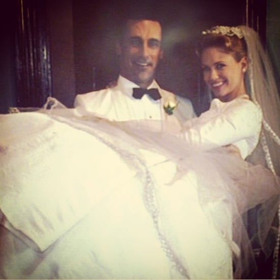 Wedding Picture of Betty and Don Draper From Mad Men
