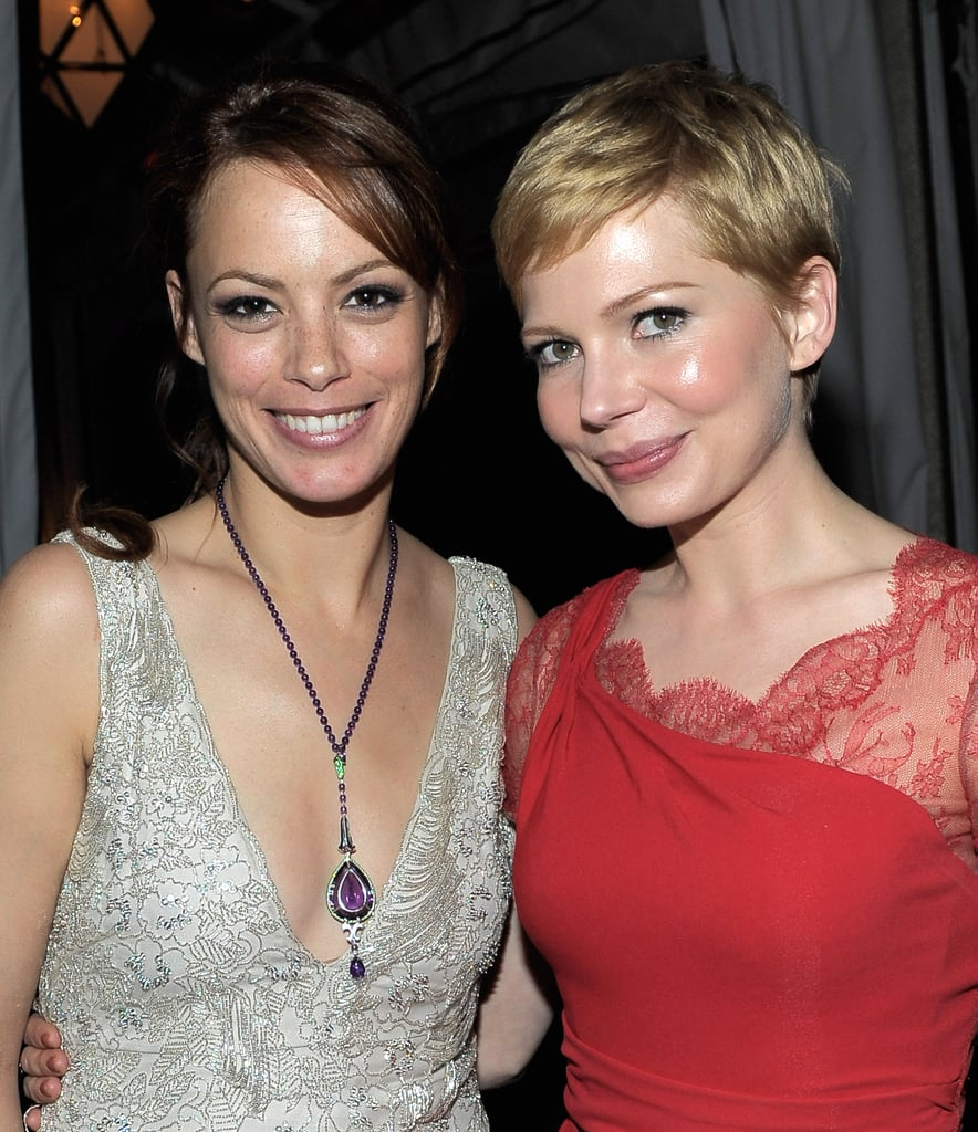 Michelle Williams and Bérénice Bejo both wore lacy dresses to the 2012 Screen Actors Guild Awards after party.