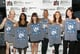 Celebrities Sophia Bush, Tatyana Ali, Aisha Tyler, and Kate Walsh posed with Obama-inspired t shirts at the 2013 Planned Parenthood & Rock the Vote Inauguration party.