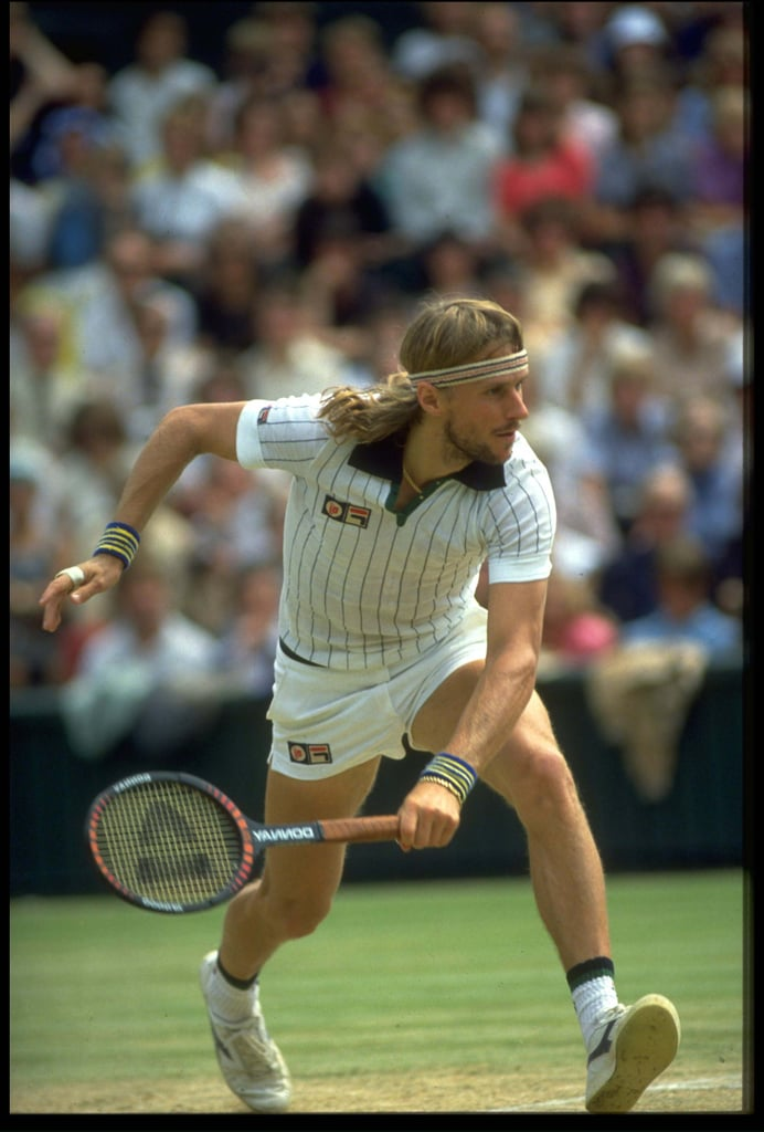 Who could ever forget the iconic tennis player Bjorn Borg in his short shorts and striped collared tee by Fila.