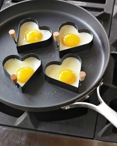 Heart-Shaped Egg Rings