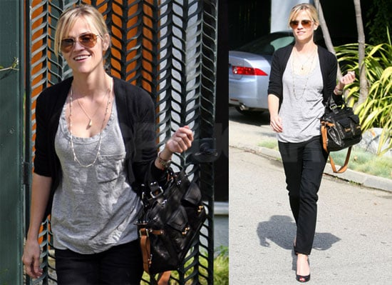 Photos of a Very Smiley Reese Witherspoon Leaving a Friend's House in LA