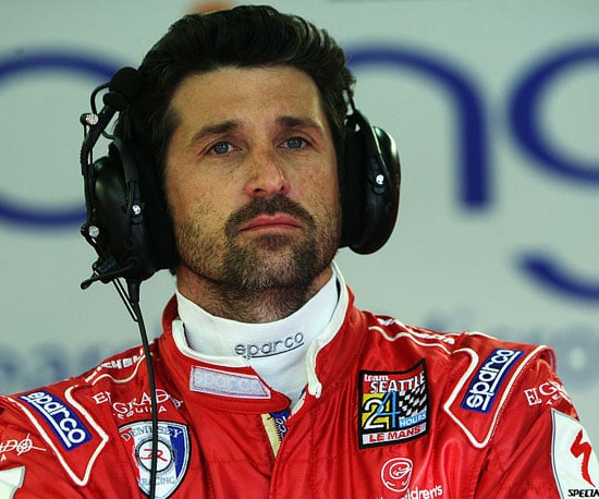 Photo Slide of Patrick Dempsey Practing for a Race in Le Mans, France