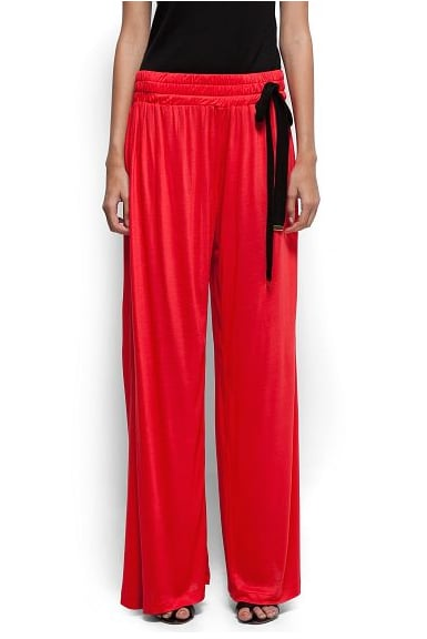 These Mango red bow wide pants ($70) would be the talk of any holiday soiree you attend. Finish off with a fitted black tank, sheer blouse, or bustier top to some statement sandals.