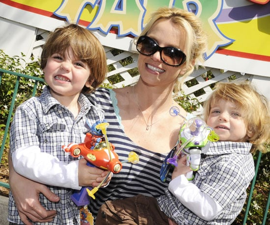 Photo of Britney Spears with Sons Jayden James and Sean Preston at Disney