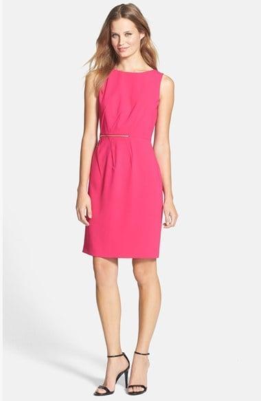 Ivanka Trump Pink Sleeveless Sheath