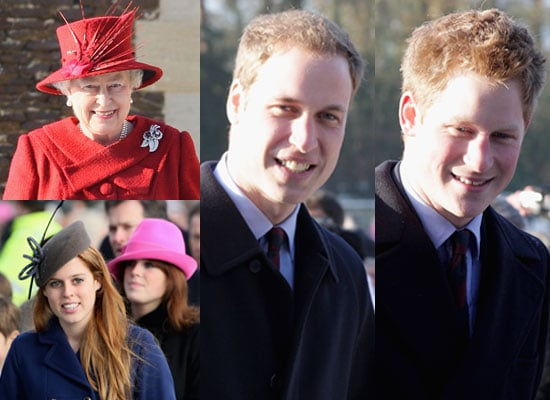 Photos of the Royal Family Including Prince William and Prince Harry at Christmas Day Service 2009 at Sandringham Church